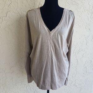 Rachel Roy Long Sleeve V Neck Top Size Mediun